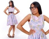 Lavender Floral Housewife Dress
