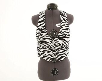 Zebra Print Vest