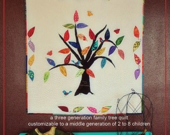 Family Tree Quilt PDF Sewing Pattern