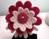 Red Glitter Flower for Dogs or Cats- Handmade