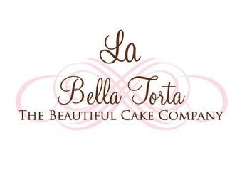 Cake Logo, Baking Logo, Custom Logo Design, Silhouette Logo, Candle Logo, Text Logo, Modern Logo Design, 3 Collateral Items,by Camille Chung