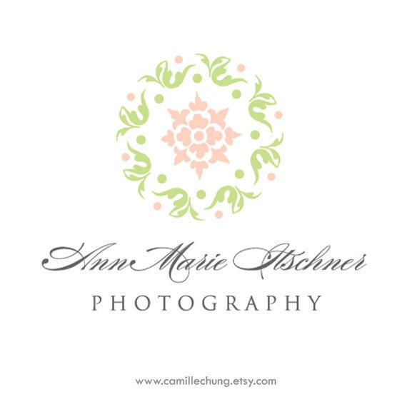 Photography Logo, Photographers Logo, Custom Logo, Logo, Branding, 5 Collateral Pieces, Watermark, Graphic Design, by Camille Chung