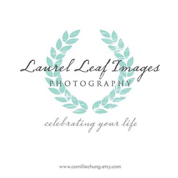 Laurel Wreath Logo, Photography Branding Package, Custom Photography Logo, Logo Design, Custom, Logo, Signature Logo, 3 Collateral Items