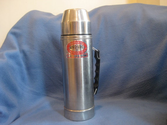 Vintage, Uno- Vac, Unbreakable Stainless Steel Thermos