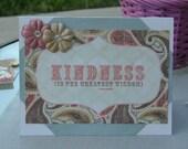 Vintage-Inspired Kindness Card