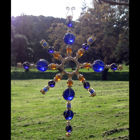 Items Similar To Cobalt Blue Glass Garden Art Blue Home