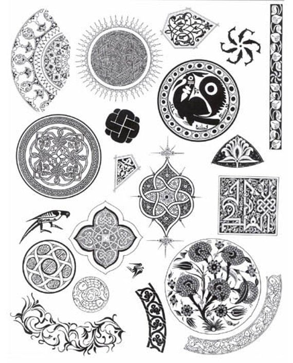 Arabian Nights Eid Symbols And Designs Unmounted By
