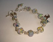 Sale Lampwork beads Rainbow colors Bracelet DEL MAR-OOAK
