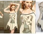 Tshirt Dress - Gypsy Dress - Steampunk Dress - SMALL DRESS