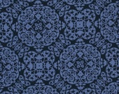 Michael Miller Secret Garden Vintage Ironwork Fabric - Midnite 2 yards