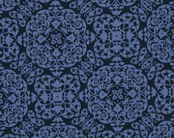 Michael Miller Secret Garden Vintage Ironwork Fabric - Midnite