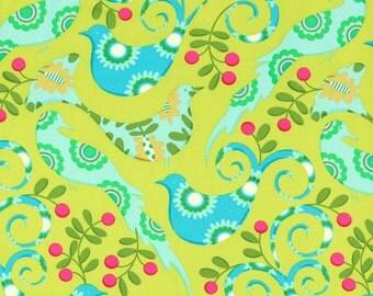 Michael Miller Pretty Bird Fabric - Lime