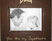 Rustic Picture Frame - Dad - Hero - Family