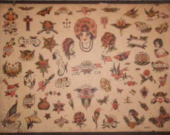 Vintage Tattoo Flash from 1941- Milton Zeis