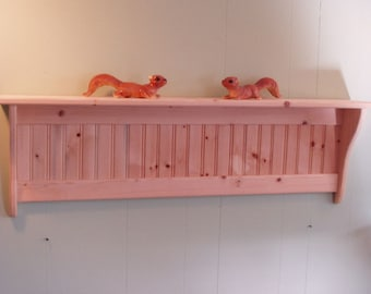 Wood Wall Shelf Display 48 Inch Unfished Pine