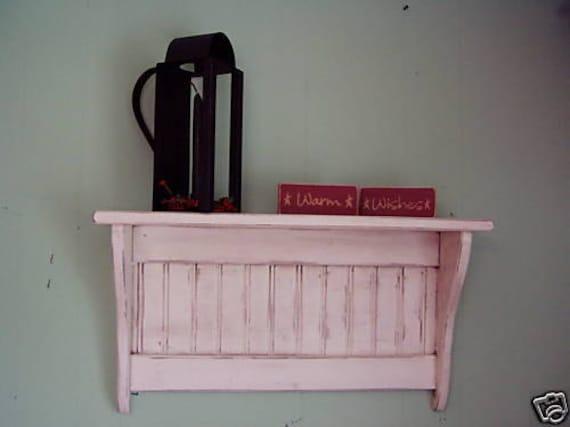 Wall Shelf Display Antiqued White Coat Rack Wall Shelf Distressed 24inch