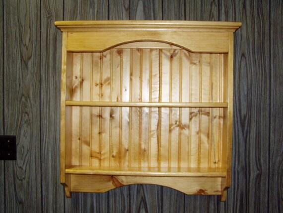Items Similar To Knick Knack Wall Shelf Display Pine On Etsy