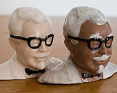 Colonel Saunders Porcelain Salt and Pepper Shakers- Multi Cultural Edition