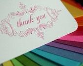 letterpress thank you cards (custom color)