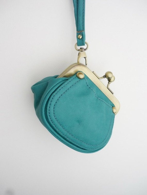 Jade Green Handmade Clutch Bag