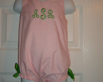 Design Your Own Monogrammed Bubble Size 3mo to 24mo