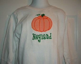 Boys or Girls Pumpkin Tshirt Size 12mo to 6 other designs available see photos