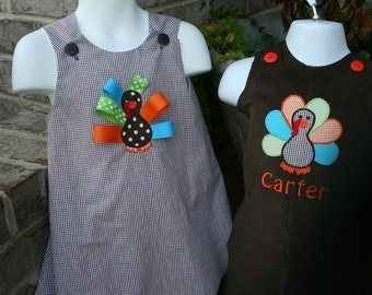 Brother Sister Turkey Outfits Monogram is Free