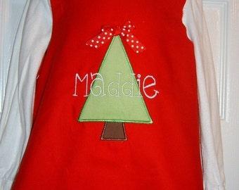 Christmas Tree Dress  Size 3mo to 5T