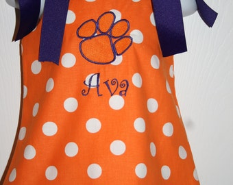 Clemson Gameday Dress Size 3mo to 5T