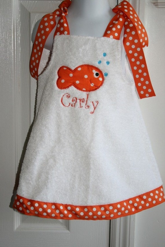 Fish Swin Suit Coverup Size 6mo to 5T