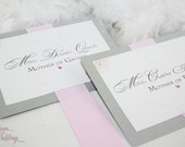 Personalized Chair Signs - Reserved signs - Pink and Silver Flowers