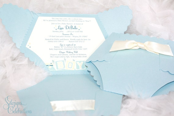 diaper baby shower invitation baby block design, Baby shower