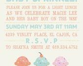 BABY SPRINKLE Invitation - 5X7 digital art