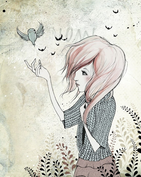 My Heart Carries Me Through - canvas print