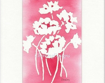 Coral Red Wildflower watercolor design