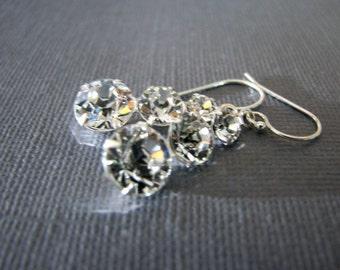 Diamonds on Fire Crystal Earrings Swarovski Graduated Crystals Gift Birthday Mother Mom Wife Fiancee