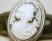 Woman Cameo Necklace