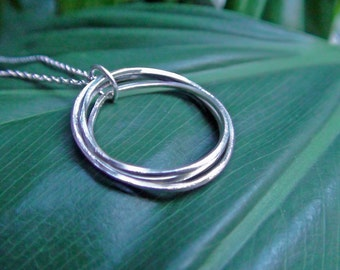 Eternity Necklace,  Circle Necklace, Infinity Circle Necklace, Sterling Silver