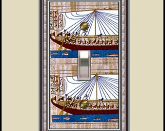Travel design switch plate - egyptian boats  1116-t1