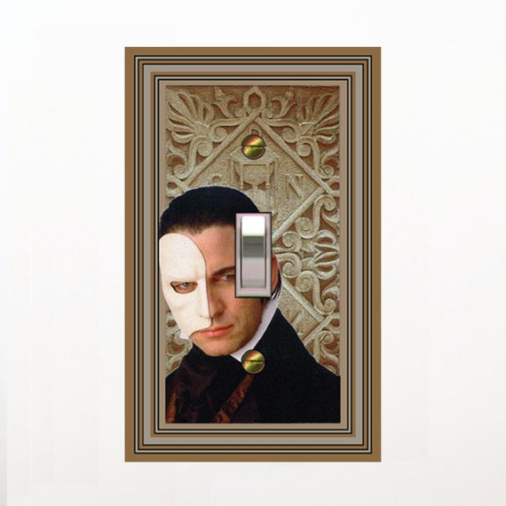 1565a  Gerard Butler as the Phantom of the Opera mrs butler Switchplate  (choose size/price from dropdown)
