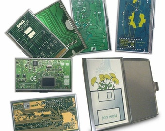 circuit board business card holder / case