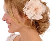 225 - COLLEEN- Silk Organza and French Lace Poppy, flower, bridal, hair, fascinator, headpiece, clip