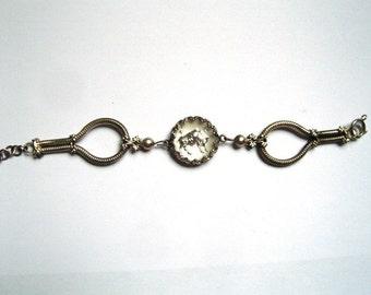 Taurus Zodiacal bracelet - 1960s Czech vintage jewelry