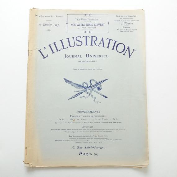French vintage newspaper magazine Illustration 1927