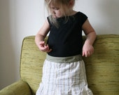 Skirt Pattern - Sculpted Skirt - sizes 2T, 3T, 4, 5, 6, 7, and 8 - SALE - price reduced from 8.00