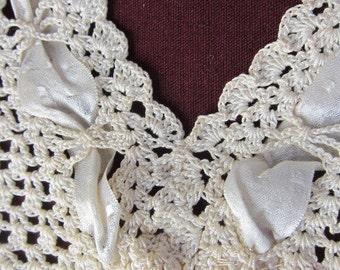 antique lace yoke , CAMISOLE  , collar 1920s , vintage lingerie, antique cami, vintage underwear, hand made yoke, wedding top