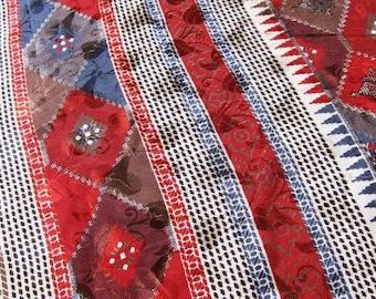 sari fabric , Indian saree,  bollywood fabric,  boho sari, .hippie textiles, rich and earthy colors
