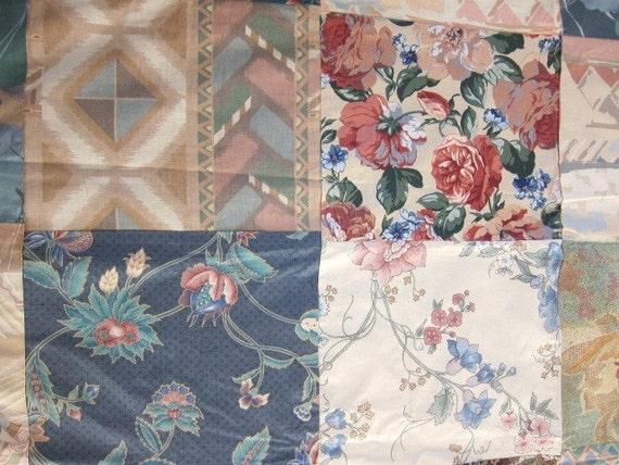 CHINTZ  80's  patchwork quilt top