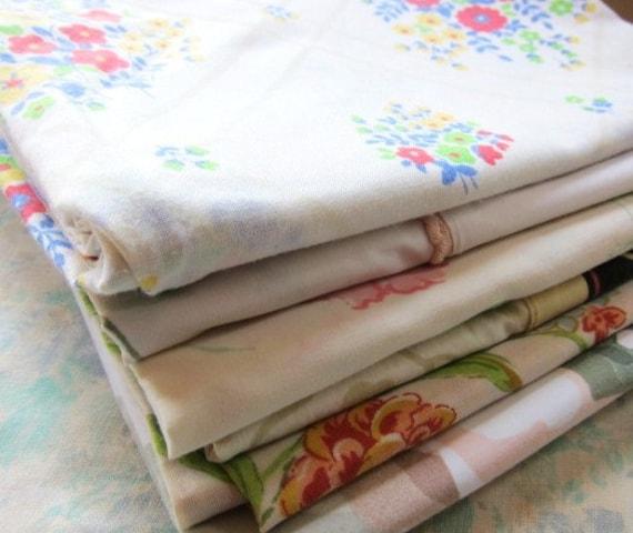 vintage  floral pillowcase retro six
