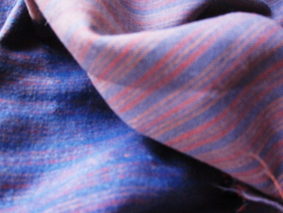 PRIMITIVE antique fabric quilt back 1910